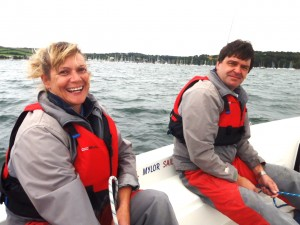 adult sailing course level 1 and 2 Falmouth Mylor