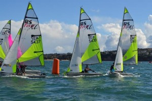 RS Feva dinghy racing Mylor Sailing School