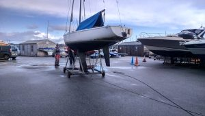 Merlin boat recovery Mylor Sailability Falmouth Cornwall