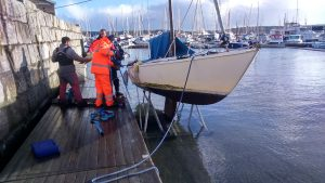 Merlin boat recovery Mylor Falmouth Cornwall