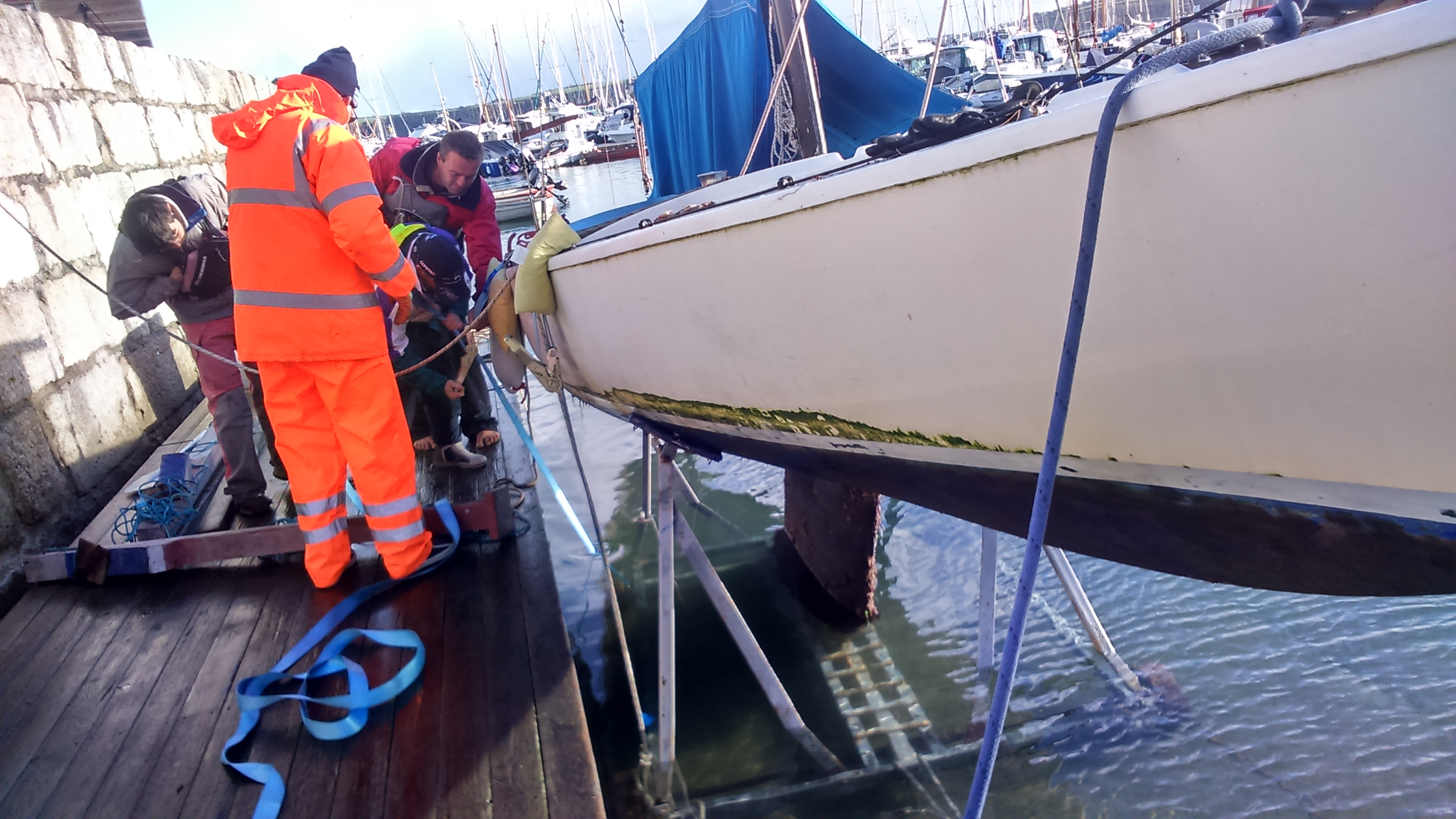 merlin boat recovery Mylor Sailability Falmouth School