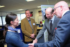 hrh duke of kent at cornwall marine network mylor sailing school
