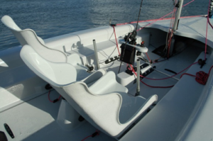Mylor accessible sailing boat support seats