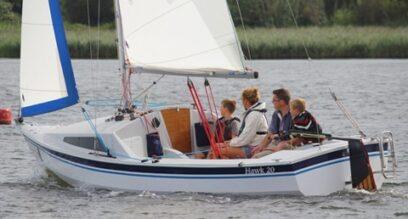 Keelboat Hawk 20 family sailing Mylor Sailing School Falmouth