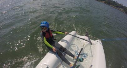 child racing mylor sailing school