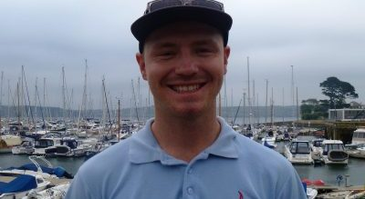 Chief Instructor Stu Denyer at Mylor Sailing School near Falmouth Cornwall