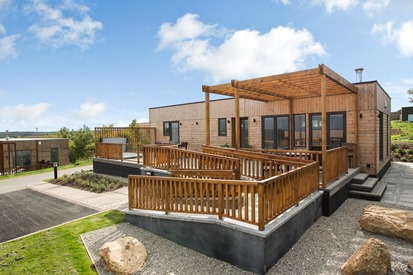 Accessible accommodation self catering lodge at Gwel An Mor Portreath Cornwall