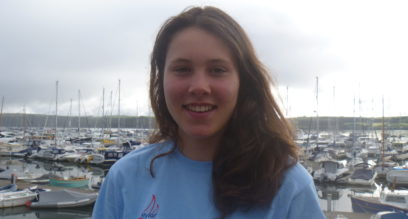 Picture of sailing instructor at Mylor Sailing School