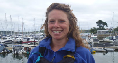 Lucy Goodman portrait photo instructor at Mylor Sailing School Falmouth cornwall