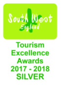 Southwest Tourism Awards logo for Myor Sailing School falmouth Cornwall
