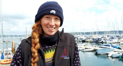 female instructor at Mylor Sailing and Powerboat School Falmouth Cornwall