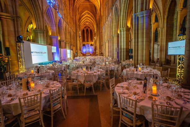 Truro Cathedral before the Cornwall Tourism Awards dinner 2019