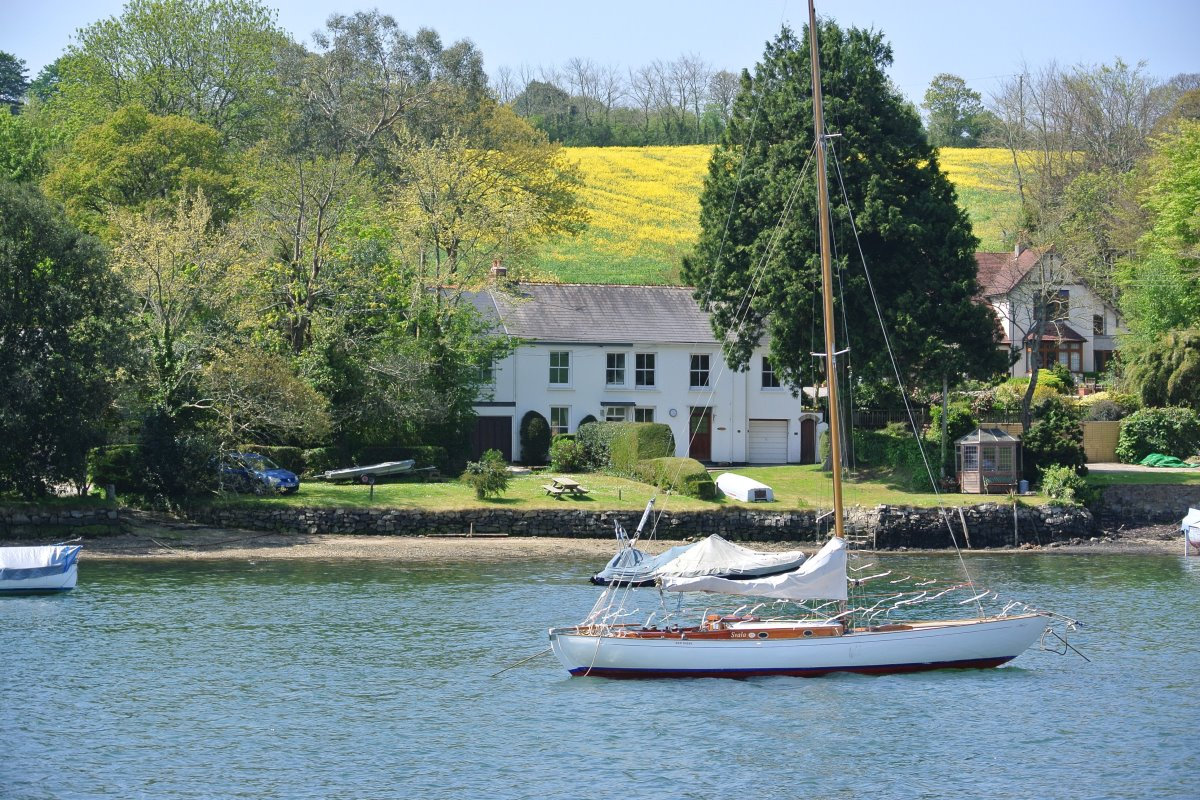 Creekside Cottage From the water Falmouth Cornwall